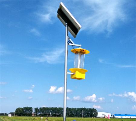 太阳能杀虫灯为固始县蔬菜基地高产提供保障