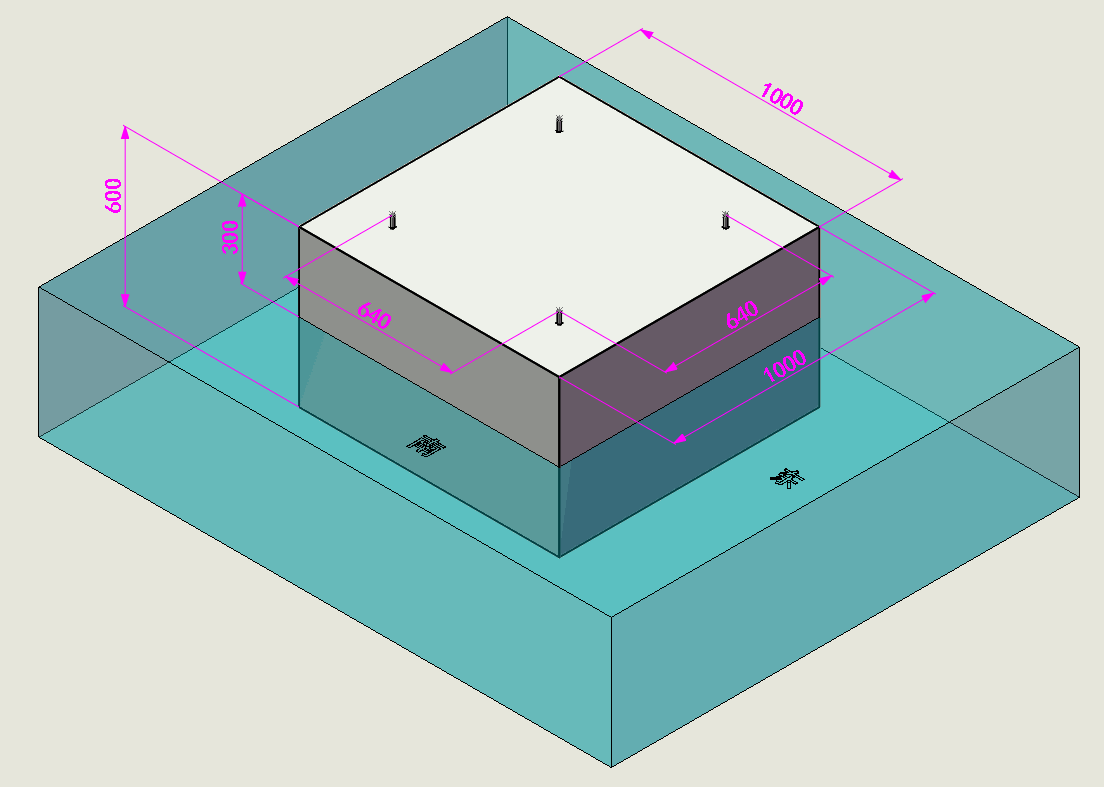 柜体式太阳能杀虫灯(三层抽斗)地基施工图纸